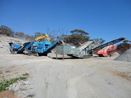 machinery equipment being used onsite
