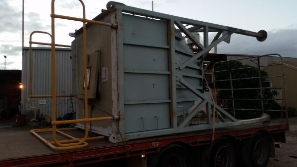mining equipment on truck
